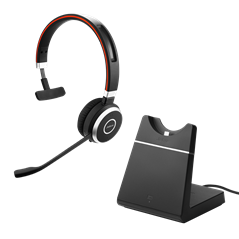 Jabra Evolve 65 with charging stand MS mono